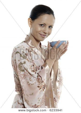 Trinken heißes Getränk Tee Frau Asian