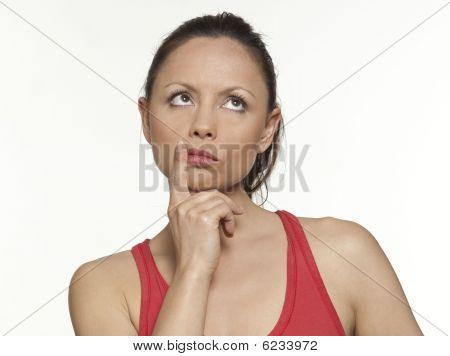 cute expressive Frau
