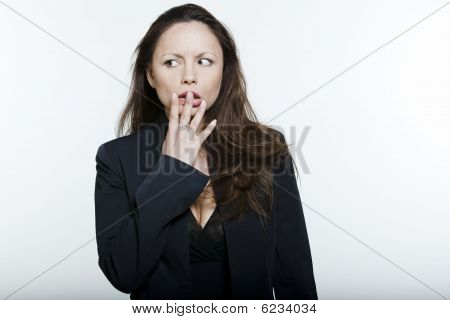 Distraught Asian Woman