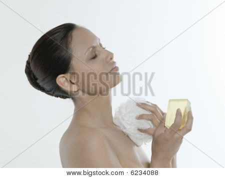 Body Care Asian Woman