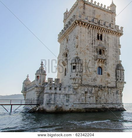 Belem Tower ( Torre De Belem) In Lisbon, Portugal