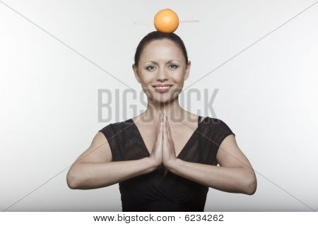 Woman Orange Juice