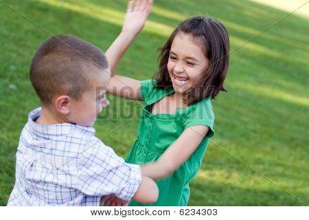 Little Kids Fighting