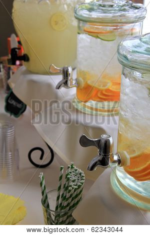 Glass containers with choice of beverage