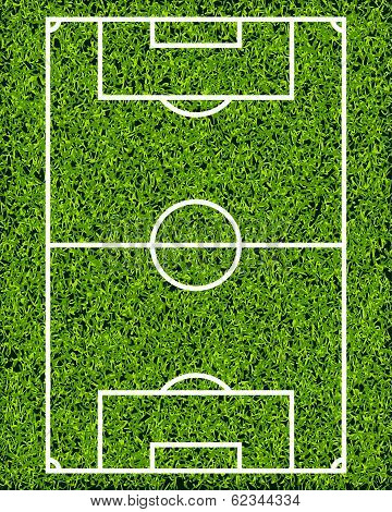 Realistic Textured Grass Soccer Field