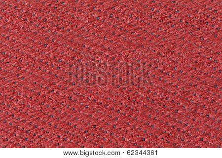 Red Plastic Braid Furniture Cover