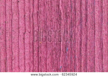 Softened Board Wall With Bright Red Paint