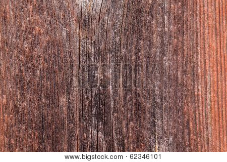 Upright Board Wall With Worn Old Reddish Paint