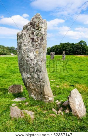 Nether Largie Standing Stones ancient site at Kilmartin Glen in Scotland
