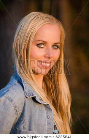 Smiling Blonde Girl