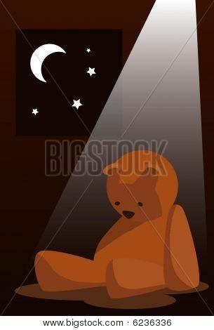 Triste urso de pelúcia