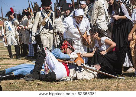 Representation Of The Battle Of Bailen, Bailén  Jaén Province, Andalusia, Spain