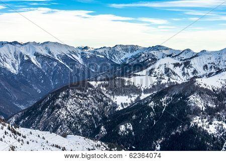 Alps Landscape In Auron, France