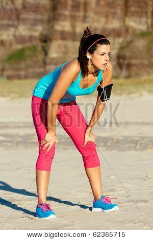 Female Runner Fatigued After Training