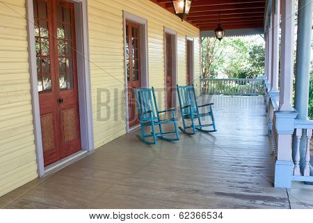 Two Empty Rocking Chairs
