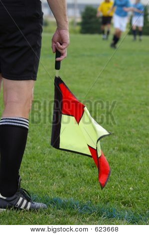 Soccer Official And Flag