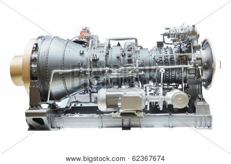Rotor engine isolated under the white background