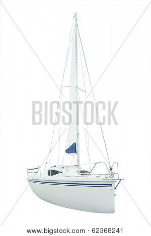 sailing under the white background