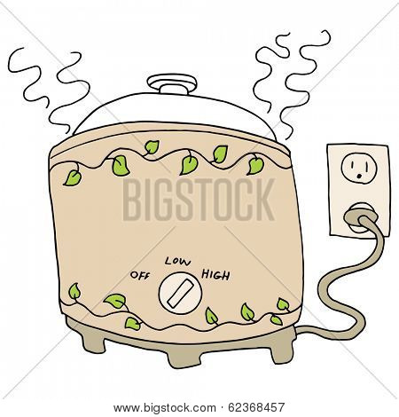 An image of a slow cooker pot.