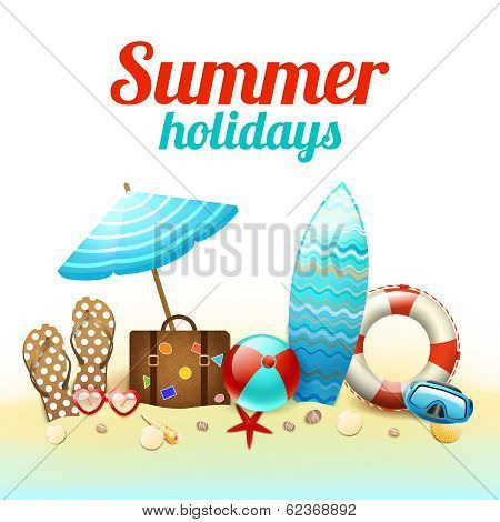 Summer holidays background poster