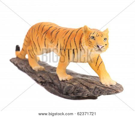 Plastic tiger figurine.