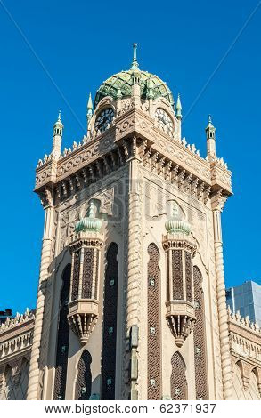 Forum Theatre is a famous landmark of Melbourne with Moorish Revival style exterior. It can be found on the corner of Flinders Street and Russell Street. Melbourne, Victoria - Australia