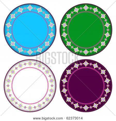Colorful Gazania Circle Frame