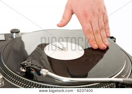 Spinning Vynil Disc