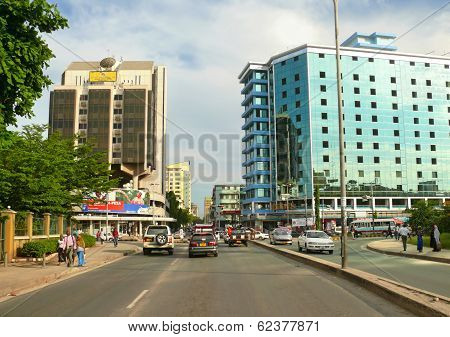 Dar Es Salaam, Tanzania - 1 Desember 2008: The City Centre.