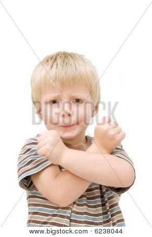 Tough looking kid.