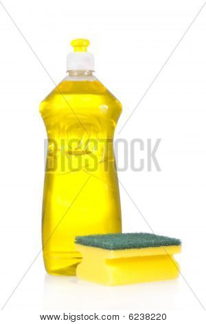 Liquid detergent bottle