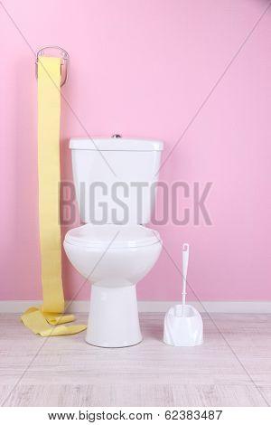 White toilet bowl in  bathroom