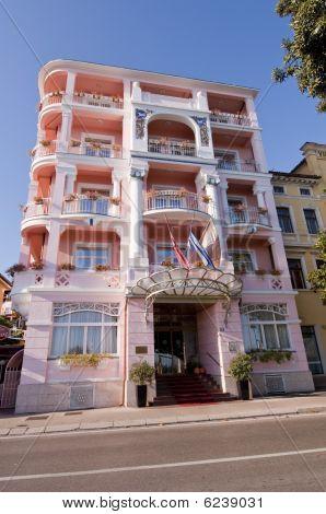 Pink Hotel Close-up