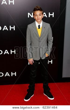 NEW YORK-MAR 26: Actor Gavin Casalegno attends the premiere of