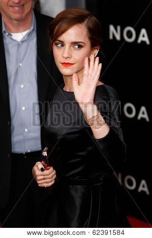 NEW YORK-MAR 26: Actress Emma Watson attends the premiere of
