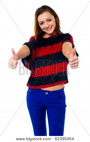 Trendy Girl Thumbs Up