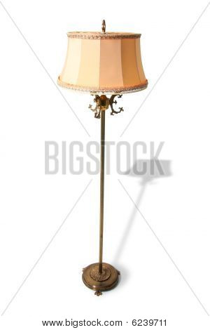 Standard Lamp Isolated Retro