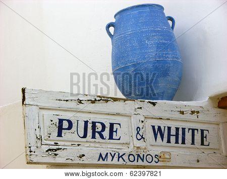 Mykonos Blue Vase,greece
