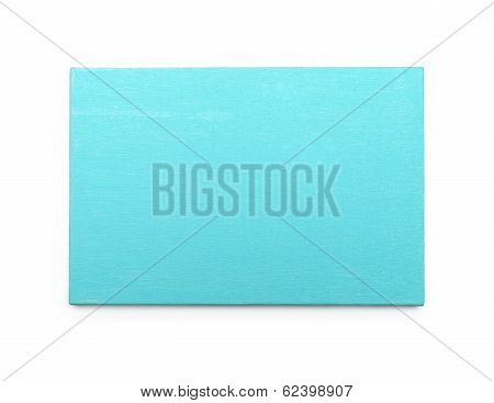 Blue Canvas On A Stretcher. Isolated On White