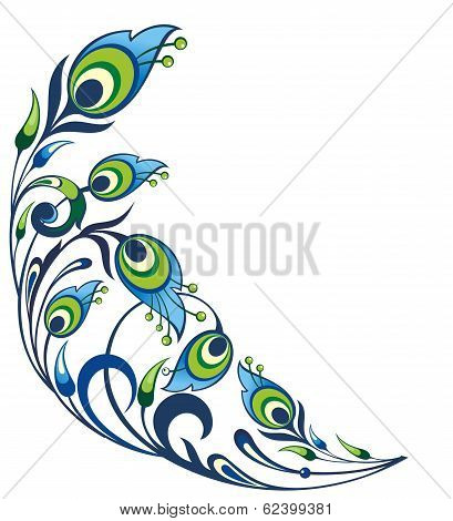 Peacock feather element