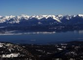 Flathead Lake In The Winter