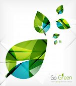 foto of nature conservation  - Green leaves spring nature design concept - JPG