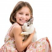 pic of white rabbit  - Easter photo - JPG