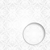 pic of cobweb  - Abstract light graphic card or invitation template with decorative cobweb background and place for text in the round volumetric window - JPG