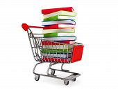 Many Books On Shopping Cart