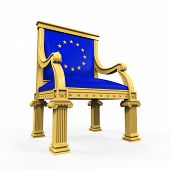 picture of throne  - Throne Chair of European Union isolated on white background - JPG