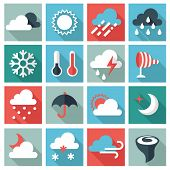 stock photo of hazy  - Weather icons - JPG