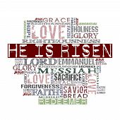 "image of risen  - ""Christ Is Risen"" Religious Words isolated on white - JPG"