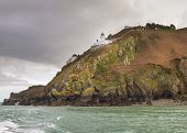 foto of sark  - Coastal scene on Sark Lighthouse , channel islands