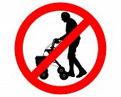 foto of rollator  - Detailed and colorful illustration of restricted for elderly people - JPG